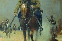 Horseman. Frontal. / Всадник, мчащийся на зрителя