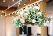 / suspended floral decorations / / Ideas and inspiration for using suspended floral decorations at your wedding
