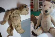 Teddy bear repairs / Before and after photos of amazing repairs to poorly teddy bears, dolls and other cuddly toys