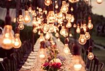 / magical wedding lighting / / Lighting can be absolutely key to you wedding's style atmosphere.  It is a great place to go wild and create a real statement without blowing the budget. We've collected some stunning wedding lighting inspiration for you, from fairy-lights to lanterns.