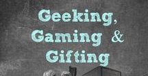 Geeking, Gaming & Gifting / A collection of some of the coolest geek gifts on the web! #Geek #Nerd #geeking,gaming & gifting #gamer #gadget #coolgifts #jenniferdawn