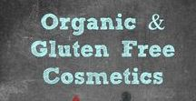 Organic & Gluten Free Cosmetics / It has been one of my biggest goals to cut out all the chemicals going on to my skin and in to my body. Here is where I will share THE BEST Organic , Gluten Free, Chemical Free, and Vegan Cosmetics.