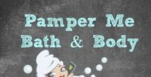 Pamper Me - Bath & Body Beauty Products / Taking time for some Self Care is important! At the end of a long or stressful day, I like to unwind with a long hot bath and some DIY Spa Treatments. Nothing is more relaxing than some aroma therapy! | Bubble Bath | Bubble Bar | Soap | Spa | Face Masks | Bath & Body | #Lush