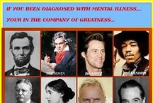 Celebrities with Mental Illness / Being famous doesn't mean you're immune to depression, (including postpartum depression), anxiety, bipolar disorder and other brain health issues.