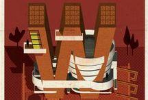 El alfabeto de los arquitectos / Ilustraciónes de Federico Babina. / by Evelio Vijil