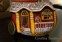 Rock Painting: Buildings / From lighthouses to outhouses,there are all kinds of painted rocks,depicting many different buildings...even gnome homes!!      / by Janet Williams