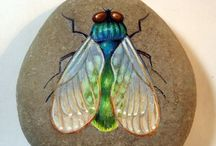 Rock Painting: Bugs / These are all rocks that have bugs on them;or the rock is the bug!..Such fun! / by Janet Williams