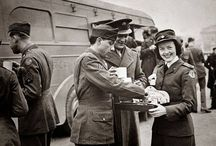 Red Cross Doughnut Girls, WWII / I am an inspirational novelist with a three-manuscript series featuring the 381st Bomb Group. The third one, Soar Like Eagles, features a Red Cross Doughnut Girl.