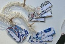 Bookmarks, Pin Button, Gift Tags, postcards, dividers,... / Handmade things!