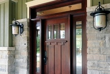 """Front Door and Entry  / The front door of your home says a lot about you. """"When one door is closed, don't you know, another is open."""""""