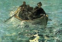 Edouard Manet  / Édouard Manet was a French painter. One of the first 19th-century artists to approach modern and postmodern-life subjects, he was a pivotal figure in the transition from Realism to Impressionism.
