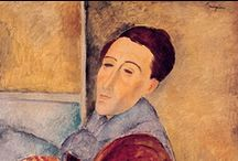 Amedeo Modigliani  / Amedeo Clemente Modigliani was an Italian painter and sculptor who worked mainly in France. Primarily a figurative artist, he became known for paintings and sculptures in a modern style, characterized by mask-like faces and elongation of form.