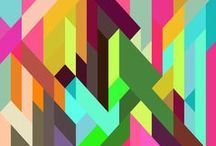 Patterns and graphic ideas / Geometry, colors, shapes, vectors, drawings, sketches and so on...