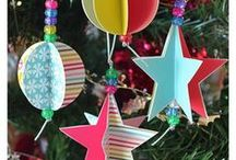 Christmas Crafts / Crafts to do with my kid or with children in primary school -art lesson