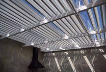Coberline coberturas. / Coberturas / articuladas / abre e fecha /  alumínio / policarbonato