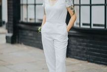 Real Women Who Wore The Trousers! / Real women who wore bridal jumpsuits or trousers for their wedding celebrations.