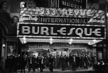 Burlesque Showgirls / Burlesque is a literary, dramatic or musical work intended to cause laughter by caricaturing the manner or spirit of serious works.
