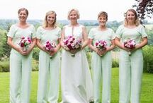 Stylish Bridesmaids / Contemporary and cool jumpsuits and separates for the modern bridesmaid.