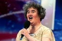 Susan Boyle / Susan Boyle is a story of a commoner – not highly educated middle-aged woman in an ordinary dress, unknown outside her small village in Scotland, who by her sheer determination catapulted herself in five minutes onto an international arena mostly reserved for those who meet a carefully promoted standard of elegance, glamour & fashion.The clip of her audition in Britain's Got Talent has been viewed 360 million times, more than any other video in history.