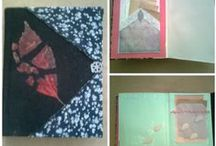 my Handmade Journals / Handmade Journals or Sketchbooks made by Agnes Violet
