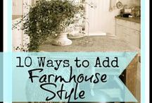 Country Home Furnishing / Ideas on how to make your home more rustic.