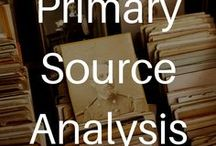 Primary Source Analysis / Resources on how to teach primary source literacy and analysis for all ages