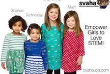 Svaha Girls' Dresses / Fun dresses to empower your child to like anything she wants to like! Dresses are designed to celebrate Science, Technology, Engineering, Art, & Math