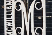 Framed Monograms / There are so many great ways to frame your monogram!