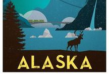 Travel Posters / Graphic illustrations of Places Visited by My Dad <3