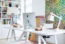 Woman Entrepreneur Home Office Ideas / pins about: stylish office ideas | building an office around your brand | girl boss stylish office decoration ideas | contemporary high end office décor | designer office décor | office decluttering | beautiful work spaces | feminine workspaces + offices | home office | at-home office | girl boss offices | lady boss office ideas | colorful office decor for women entrepreneurs. To learn more about integrating artwork into your office visit: https://www.maggieminordesigns.com/