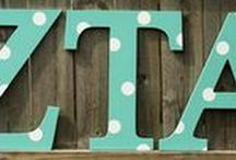 Greek Alphabet / Share your sorority/fraternity pride with our oversized, unfinished wood Greek Alphabet. Perfect for decorating the house or dorm room.