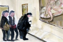 Peinture | Paint / Peinture, Fred Lucien Exposition Lucian Freud, Beaubourg  / by MKGraph Art