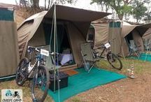 MTB Hospitality / Mountain Bike Hospitality is an extension of Chiefs Luxury Mobile Safari Camps, and provides a hospitality alternative to traditional accommodation solutions offered at most multi day MTB events. Whilst there is little to beat the buzz and entertainment of a race village, it does bring with it certain frustrations, not least of which are the long lines for a shower, not to mention the very small tents. http://www.mtbhospitality.co.za/