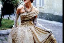 fashion, vintage and costume