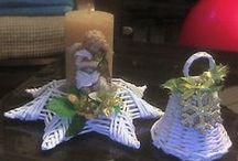 Výrobky z papierových paličiek / Paličky z novinového papiera, pletené košíky, vence... moje práce