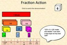 FRACTIONS & RATIOS / Fractions activities and teaching ratios, plus teaching resources for teaching fractions and modeling fractions in the classroom. Includes related concepts such as decimals, percents, and conversion. Focus on the Common Core Standards. | common core math | ratios and proportions | decimal place value | fraction games | teaching ideas | teaching math | teaching tips | math activities teachers | percentages math | secondary math | percent and decimal activities