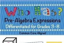 ALGEBRA & FUNCTIONS / Activities and resources for teaching pre algebra and modeling PRE-ALGEBRA concepts in the classroom. (Includes related concepts such as coordinate grids, variables, and algebraic expressions.)  Focus on the Common Core Standards. | pre algebra worksheets | pre algebra activities | pre algebra middle school | algebra elementary | algebraic expressions activities | common core math | coordinate grid pictures | variables and expressions