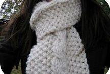 scarves / knit scarf patterns I love
