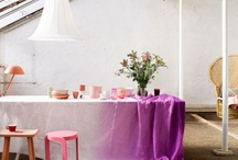 Dressed up dining tables