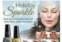 Holiday Sparkle / Wrap up a party perfect look with Salon Perfect Lashes and Lacquer. Available in Walmart stores December 2013.
