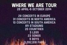 Where We Are Tour 2014 / This is my Board for the Where We Are Tour 2014