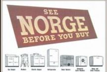 Norge Washers Dryers / Magazine Advertisements featuring Norge Washers Dryers! Enjoy these vintage ads for Norge Washers Dryers! And remember to visit www.magazine-advertisements.com to view, download, or print the Full-Size image! / by Advertisement Gallery