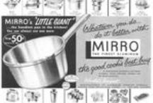 Mirro Cookware / Magazine Advertisements featuring Mirro Cookware! Enjoy these vintage ads! And remember to visit www.magazine-advertisements.com to view, download, or print the Full-Size image! / by Advertisement Gallery