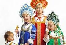 russian style costume \ русский костюм / Russian style costumes and details.