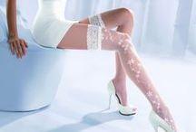 Svadobné pančuchové nohavice, samodržky / Kvalitne, vzorované biele pančuchy na svadbu. aby Váš veľký deň bol dokonalý...
