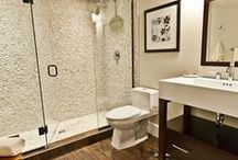 Shower Pebble Tile and Stone Tile Ideas / by Pebble Tile Shop