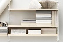 String shelfes & furniture / Interior design with the string pocket shelf, simple string kind of furniture, shelfes & shelfies ... I adore those minimal storage pieces...