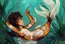 Merfolk / Mermen, mermaids, merbabies, etc
