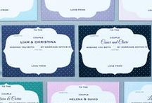 Guestbook alternatives / Alternative guestbook ideas for your special day, including wedding advice cards and various stylish guestbook alternatives to provide wedding inspiration. Ideas include personalised wedding advice cards.