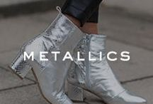 TREND | Metallics / Kurt Geiger metallic shoes & accessories